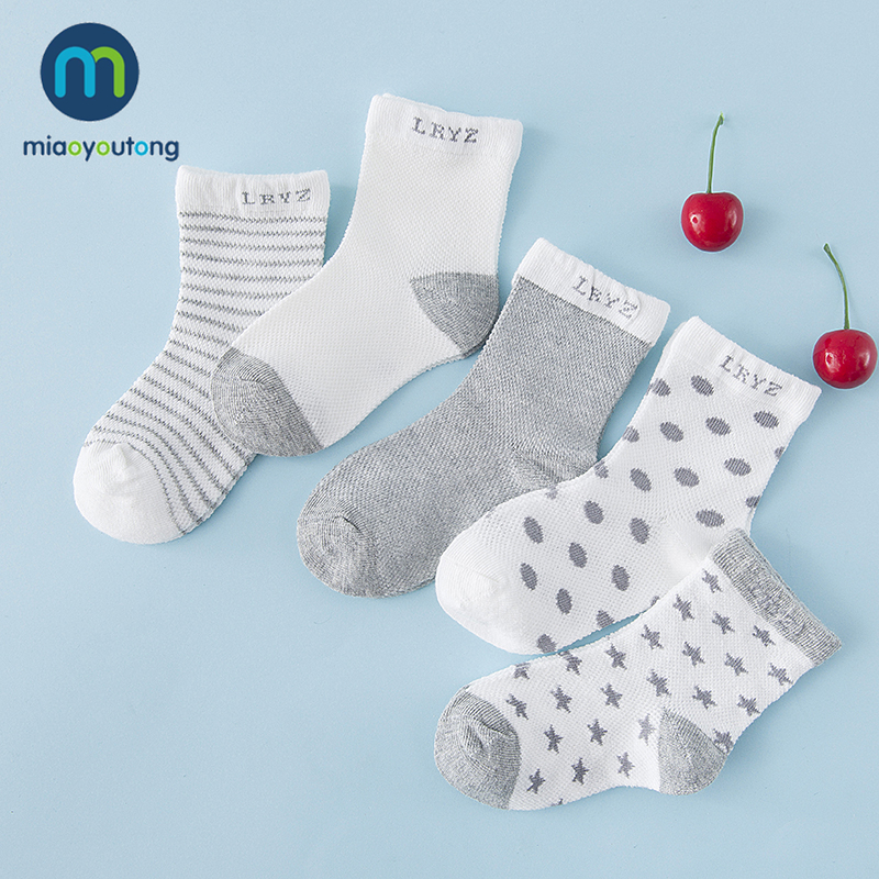 5 Pair/lot 10pcs Knit Breathable Mesh Cotton Soft Skarpetki Newborn Socks Kids Boy Girl Baby Socks Meia Infantil Miaoyoutong
