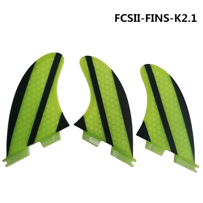 Conseil sup Surf FCSII Ailettes En Fiber de verre Ailettes Nouveau Design Planche De Surf FCS2 K2.1 Ailettes fcs ii en fiber de verre Fin Quilhas