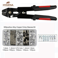 Hyaena High Carbon Steel Crimper Sleeves Suitable For 0.1 2.2mm Sleeve With Side Cutters for Leader Line Cutting Fishing Tackle