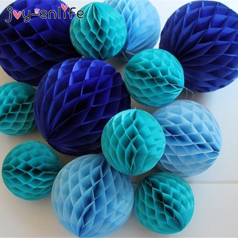 JOY-ENLIFE 5pcs 6(15cm) Tissue Paper Honeycomb Balls Flower Paste Wedding Holiday Party Decor Birthday Baby Shower Supplies