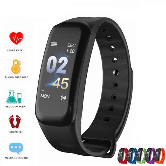 2019 Vòng Tay Thông Minh Màu Sắc Màn Hình Tập Thể Hình Đồng Hồ Huyết Áp Đo Nhịp Tim Theo Dõi Giấc Ngủ Dây Đeo Tay Bluetooth Smart Watch