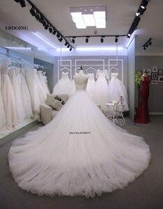 Image 2 - מקסים אונליין מתוקה שנהב שרוולים שמלות כלה Vestidos דה Novia תפור לפי מידה הכלה שמלה עם תחרת אפליקציות