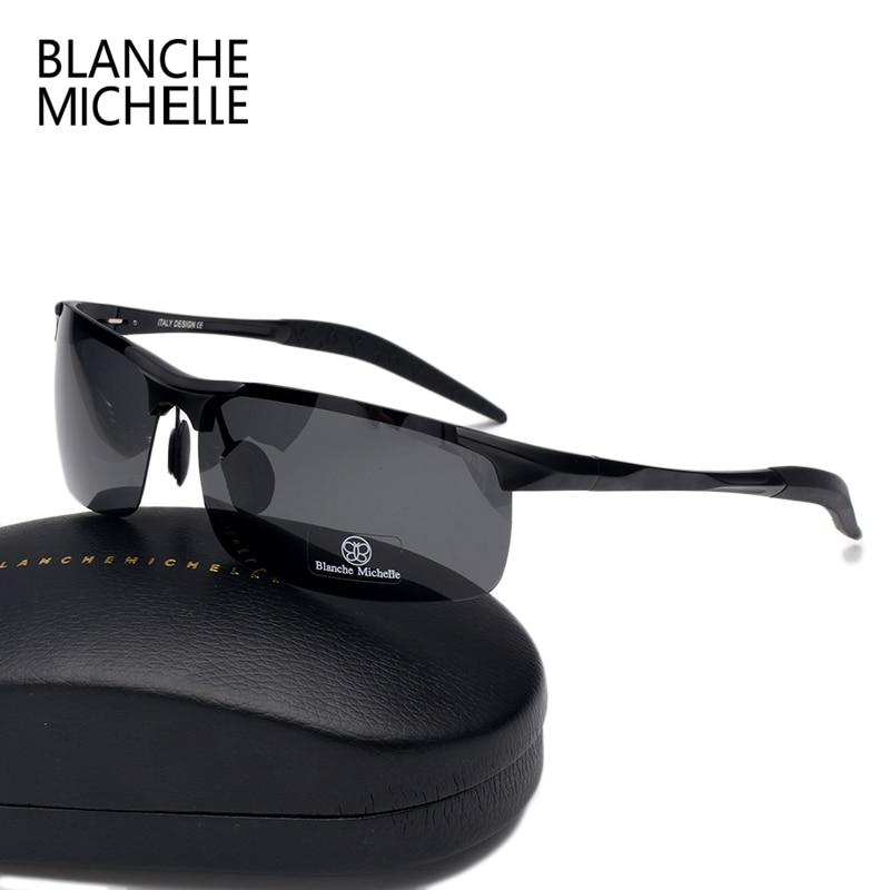 High Quality Ultra-light Aluminum Magnesium Sport Sunglasses Polarized Men UV400 Rectangle Gold Outdoor Driving Sun Glasses 5