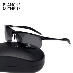 Image 5 - Высокое качество, ультра светильник, алюминиево магниевые спортивные солнцезащитные очки, поляризованные мужские UV400 прямоугольные золотые очки для вождения на открытом воздухе очки солнцезащитные мужские sunglasses