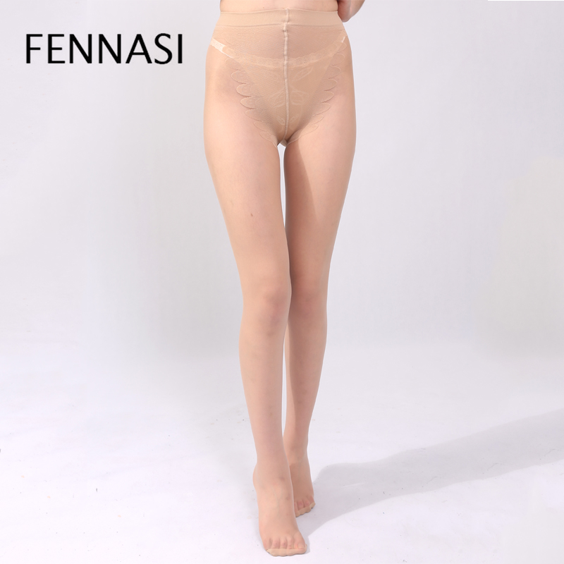 FENNASI New Fashion Women Tights Slimming Legs Butterfly Sexy Bikinis Crotch Anti Hook Add-crotch Medias Pantyhose
