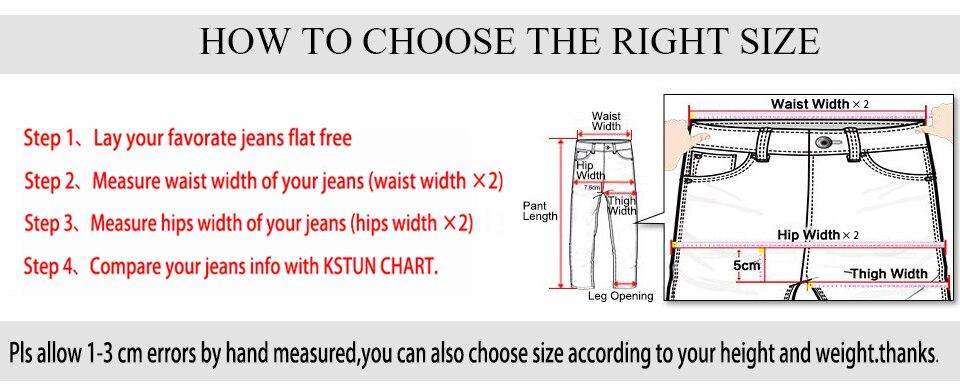 KSTUN Jeans Men Straight Thicken Stretch Fleece Blue Soft Warm Classic Denim Pants Business Casual