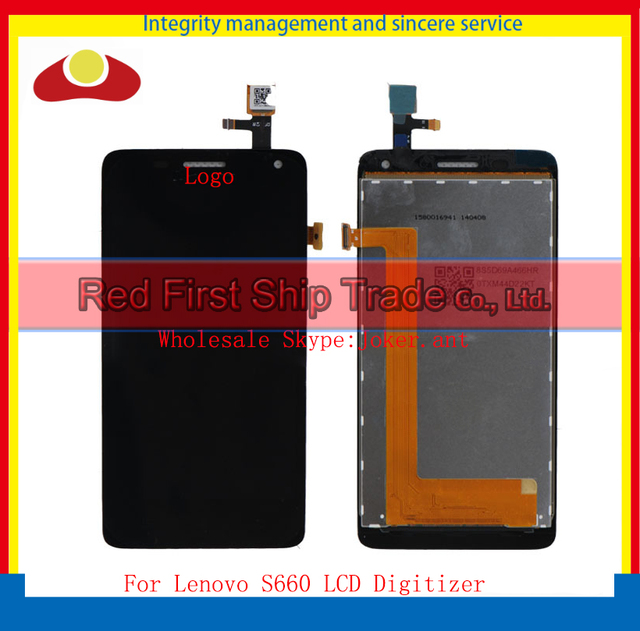 High Qaulity For Lenovo S660 Lcd Display Assembly Complete + Touch Screen Digitizer Sensor 4.7 inch Free Shipping