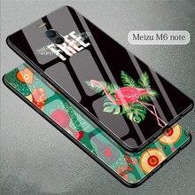 WeeYRN Full Luxury Tempered Glass Case Meizu M6 note Cute Ca