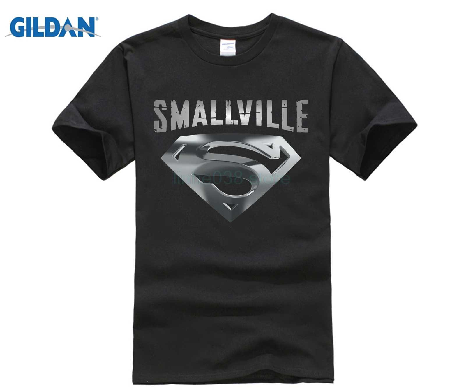 Smallville Superman Silver Logo Black T-shirt USA Size