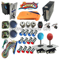 Pandora's Box 5 960 in 1 Arcade kit with power supply coin acceptor chrome button joystick For DIY led game cabinet machine