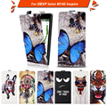 High quality fashion cartoon pattern flip up and down leather case for DEXP Ixion M140 Inspire,Free gift