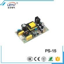 Светодиодный трансформатор с открытой рамкой, низкая стоимость питания, одобренный CE RoHS, мощность LEYU, PS-15-5, выход 15 Вт, 5 В, выключатель питания
