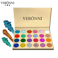 24 Color Glitter Injections Pressed Glitters Single Eyeshadow Diamond Rainbow Make Up Cosmetic Eye Shadow Magnet