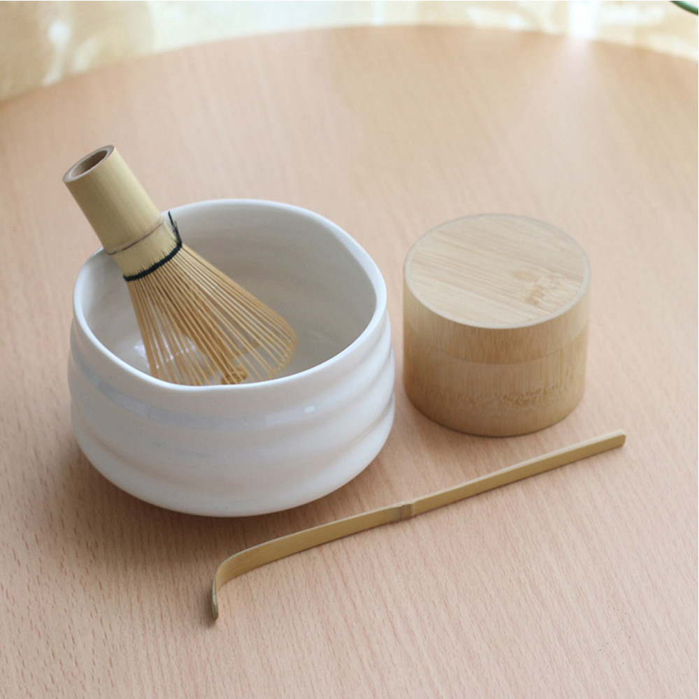 Professional Japanese Matcha Bowl Whisk Scoop Bamboo Caddy Gift Set Green Tea Powder Teaset Japan Tea Ceremony Matcha Teaware