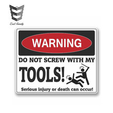 EARLFAMILY 13cm x 11cm znak ostrzegawczy nie wkręcaj z moimi narzędziami naklejka Box mechanik Biker osobowość Vinyl samochodów naklejka wodoodporna