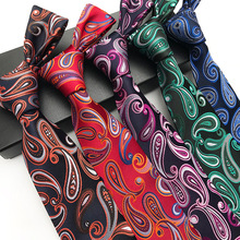 2018 Mens Floral Ties New Man Fashion  paisley   Neckties Classic Flower Pattern Gravata Jacquard  Tie Business  Tie for Men fashionable flower leaf ethnic pattern colored tie for men