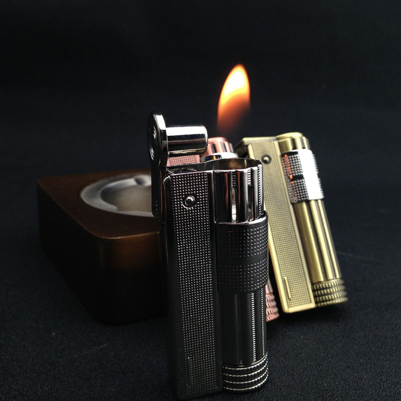 Copper Lighter Gasoline Kerosene Cigarette Lighters Men Gift Lighters Windproof Vintage Retro Windproof Lighter