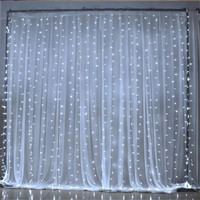 3X3M LED String Light AC220V 300led Wedding Fairy Light Waterproof Outdoor Garden Birthday Decoration Curtain Light