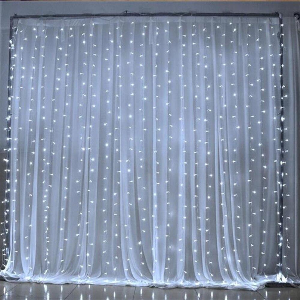 3X3M LED string light AC220V 300led wedding fairy light waterproof outdoor garden birthday decoration curtain light цена
