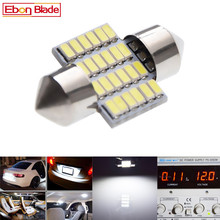 2Pcs New Rushed C5W LED Bulb 12V Festoon 28mm Auto Interior Dome Map Reading Light 3014 Chip 24 SMD White 6000K Car Styling carking 6w 750lm 6000k 45 smd 5050 led white car dome lights kit for 12 new fit new city