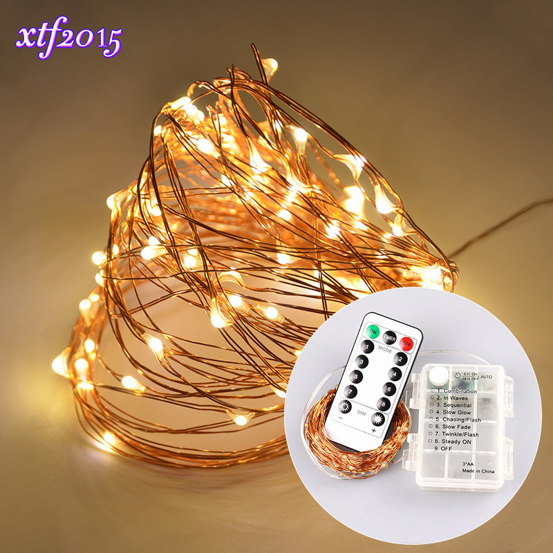 10M 100leds LED Copper Holiday String Lights Dimmable Waterproof Wedding Light for Home Decoration Christmas Glass Craft Party