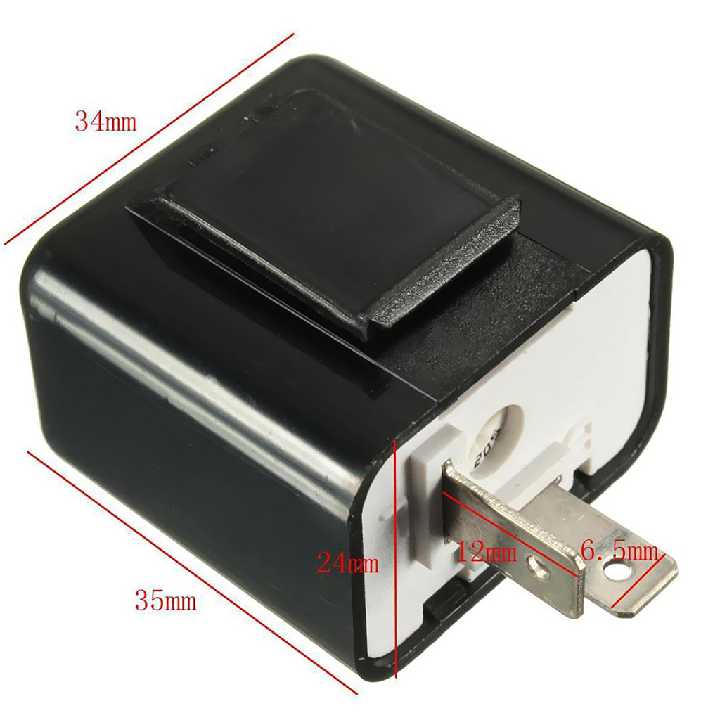 Image 5 - 1 Pcs LED Flasher 12V 2 Pin Adjustable Frequency Relay Turn Signal Indicator For Honda Kawasaki For Suzuki Etc-in Motorcycle Switches from Automobiles & Motorcycles