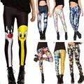 New 2017 Many Famous Cartoon Adventure Time Printed Fitness Women Leggings Summer Sping Harajuku  Leggins Creative Pants