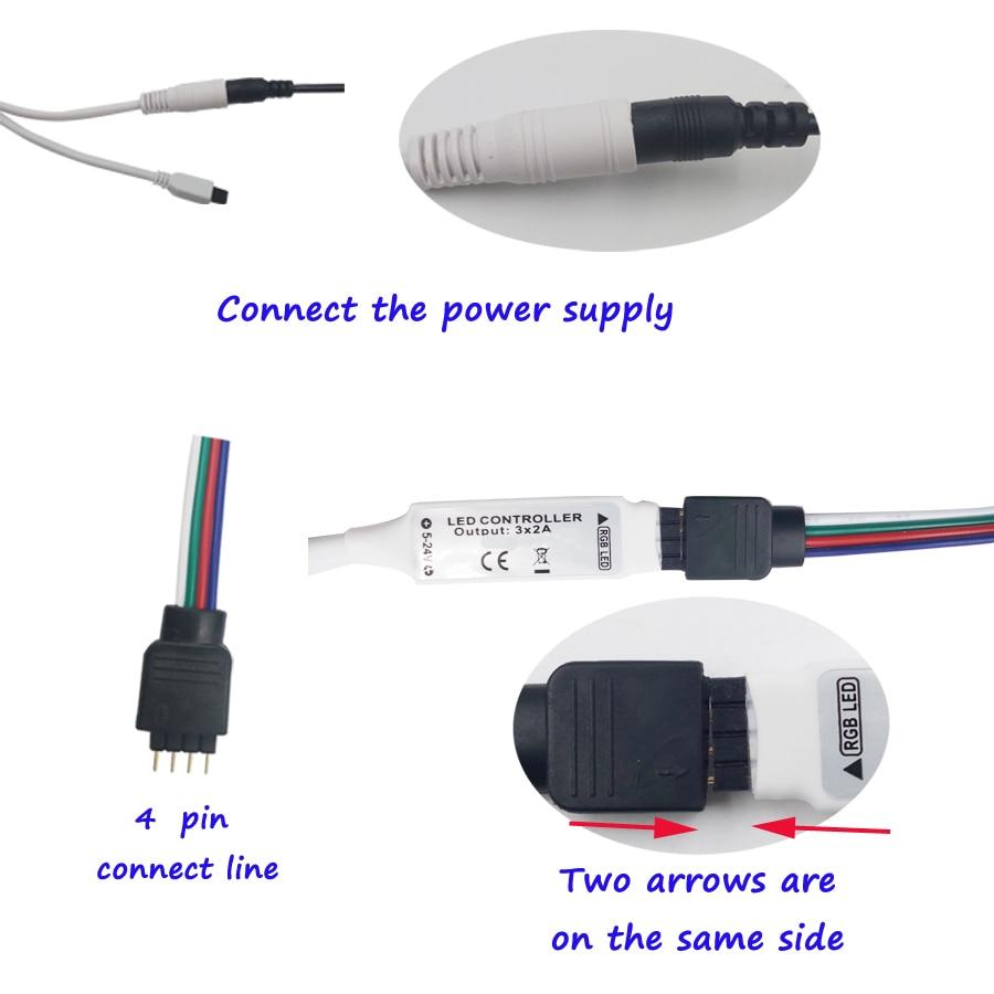 8M 10M SMD 5050 RGB LED Strip 5M 4M LED-lampa Vattentät Tape DC 12V - LED-belysning - Foto 4