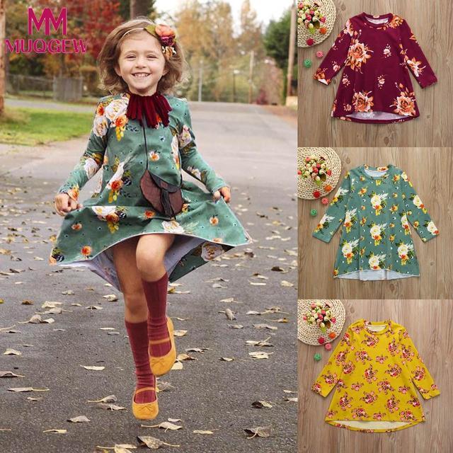 MUQGEW От 3 до 7 лет 2018 Vestido платье для маленьких девочек цветочный принт солнце платья одежда наряды