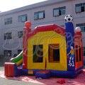 Envío gratis por mar directa de la fábrica gorila inflable comercial salto casa inflable Combo diapositivas para los niños