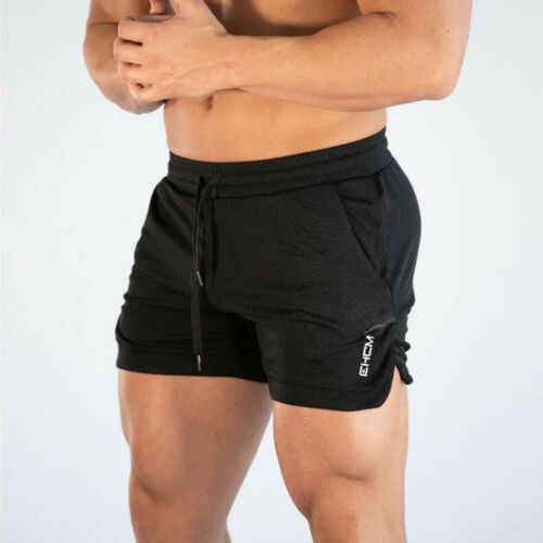 Mens Running Trousers Training Shorts Pants Workout Sports Clothing CasualShorts