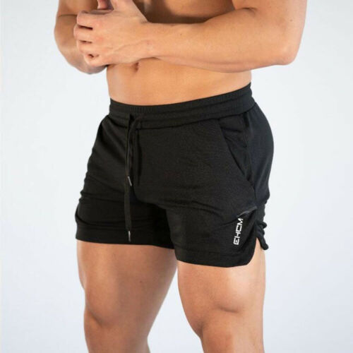 Men GYM Clothing Shorts Training Running Sport Workout Casual Jogging Pants Summer Beach Solid Short Trousers