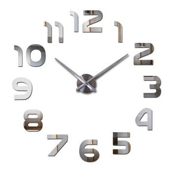 Top Fashion 3d Wall Clock Reloj De Dikupas Kuarsa Watch Modern Diseduh Sendiri Jam Living Kamar Besar Dekoratif Horloge Murale Stiker