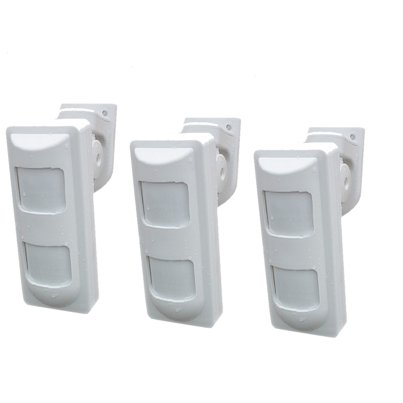 3pcs Wireless Dual PIR Sensor 433Mhz Infrared Motion Detector Alarm Pet Immune Sensors For GSM/PSTN Home Security Alarm System