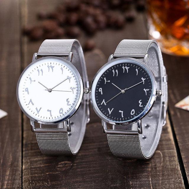 20mm Women Men Wrist Quartz Watch Round Alloy Steel Strap Luxury Buisness Watche