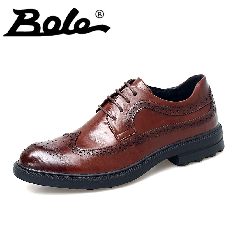Bullock Business Men Black Leather Shoes Solid Point Toe Dress Shoes Lace Up Genuine Leather Shoes Flat Free Breathable Shoes snowkimi2018 spring girl butterfly leather shoes leather breathable children flat heels dress shoes