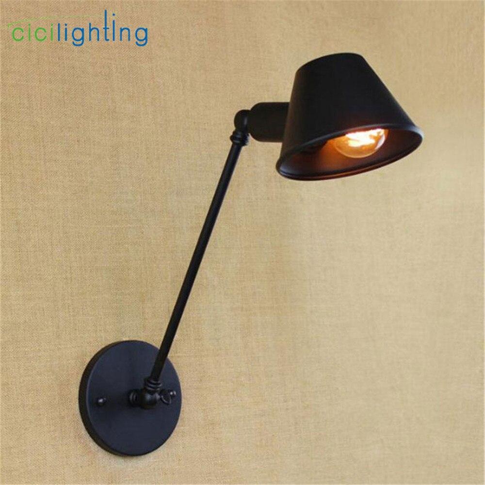 AC100 240V Retro Vintage Hat lamps Art Deco Wall sconces lamp ...