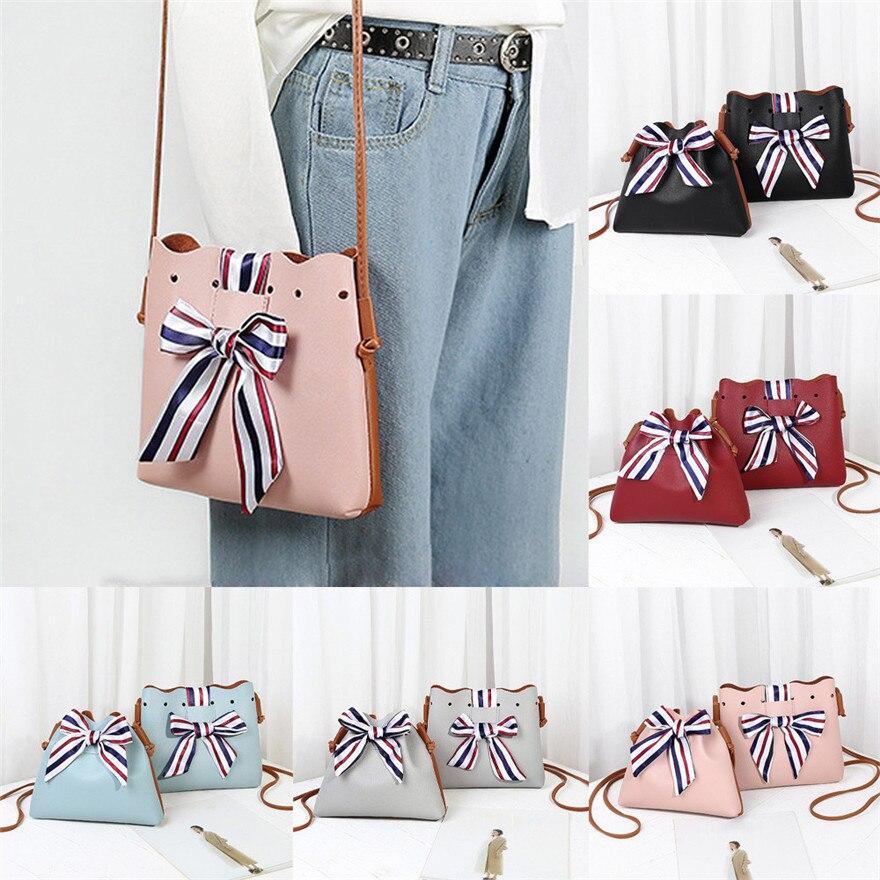 Fashion Women Bowknot Bucket Bag Crossbody Bag bolsos mujer Phone Shoulder Bag luxury handbags women bags designer