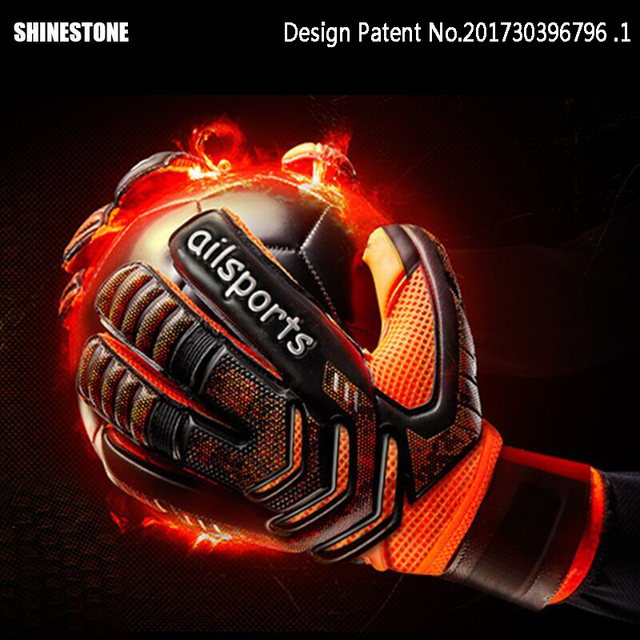 Guantes de Portero profesional Shinestone protección de dedos guantes de portero de fútbol de látex grueso guantes de portero de fútbol