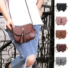 купить Women Tassel Handbag Satchel Messenger Cross Body Leather Shoulder Bag Purse USA дешево
