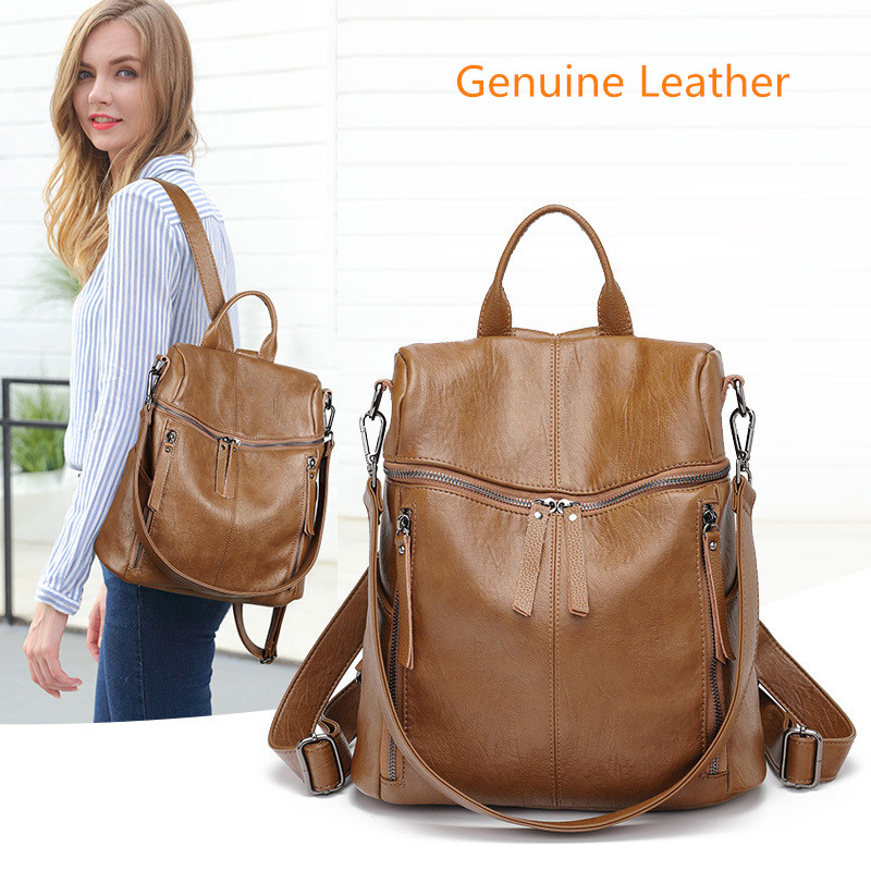 Women Backpack for School Style Leather Bag For College Simple Design Women Casual Daypacks mochila Female Famous Brands