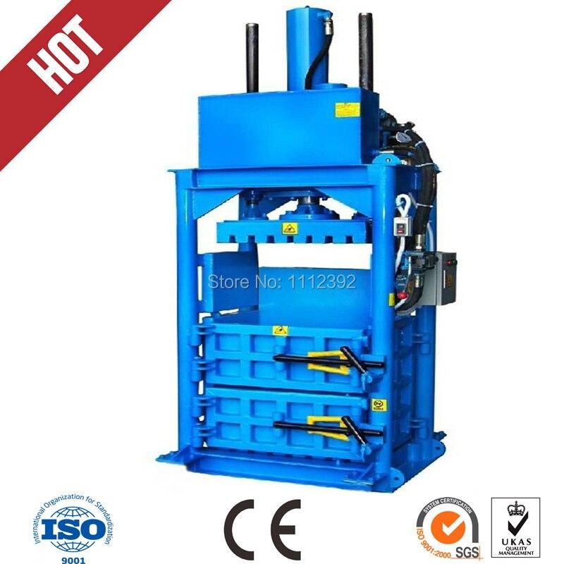 Hydraulic driven recycling vertical baler equipment /wool