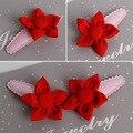 2 Peças/lote Pano Do Bebê pequenas flores hairpin grampos de cabelo acessórios para o cabelo Headwear bebes fille cheveux cabelo clipe presente