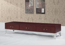 Гостиная мебель для дома ТВ стоит современный модный стиль для поверхности кожи и украшены небольшой устроило ТВ кабинета