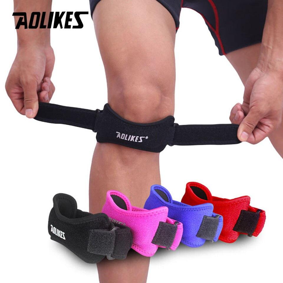 ba5b56b86a 1 PCS Adjustable Knee Patellar Tendon Support Strap Band Knee Support Brace  Pads
