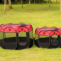 Portable Folding Pet Tent Dog House Cage House Dog Cat Tent Fence Puppy Kenneles Outdoor Bed