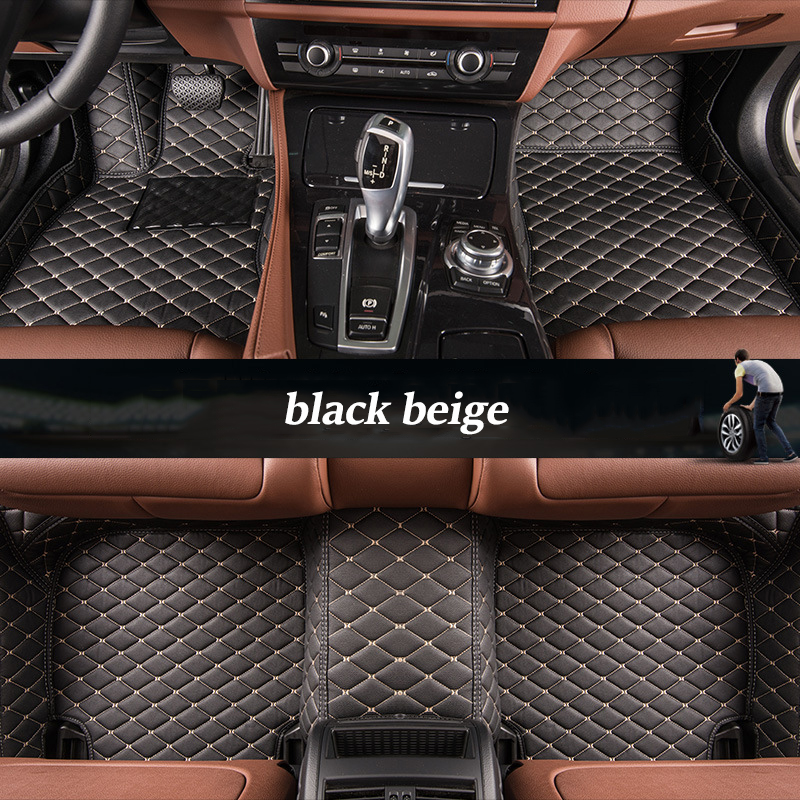 kalaisike Custom car floor mats for Besturn all models B30 B50 B70 X80 B90 X40 car styling auto accessories interior black leather floor mats