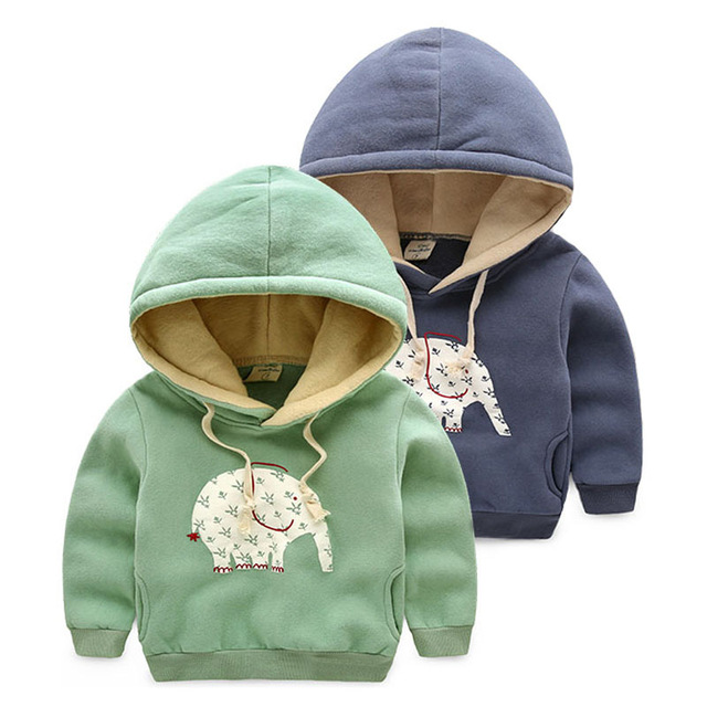 2015 nova moda engrosse t meninos hoodies e camisolas meninas crianças com capuz inverno quente menino pullover crianças roupas