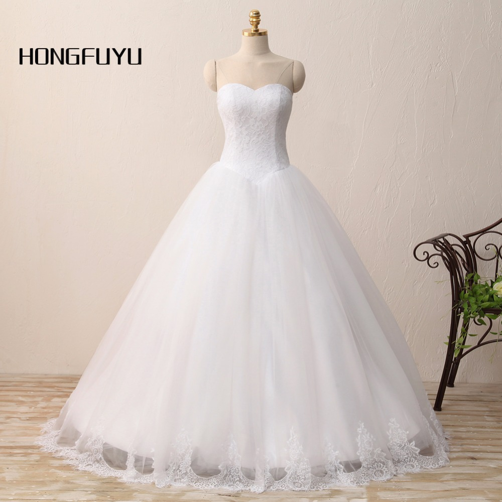 Lace Tulle Bridal Dresses Sleeveless Sweetheart Wedding Dress Sexy Ball Gown Zipper Of Back Vestido De Noiva Plus Size X62401