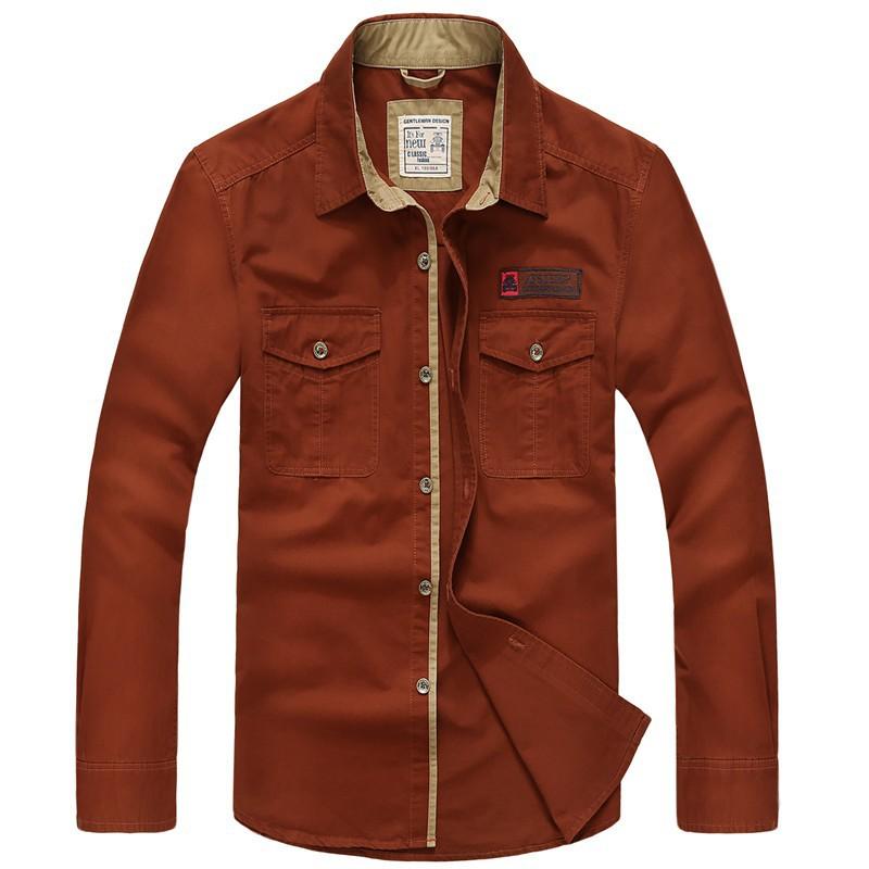 AFS JEEP 2015 Spring Autumn Fashion Men\'s Cotton Dress Plus Size Shirts Camisa Hombre Blouse Vestido Men Clothes Casual 2XL 3XL (18)
